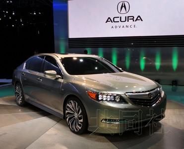 本田计划2013年初发售的讴歌顶级轿车--rlx概念车全球首次亮相.