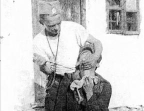 二战塞尔维亚伪军杀人照