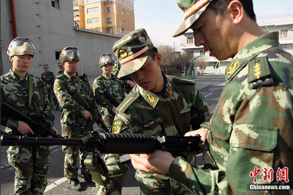 武警边防部队乌鲁木齐指挥学校开展春季首次大