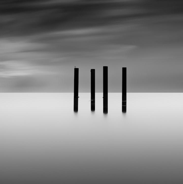 抽象的长曝光风景