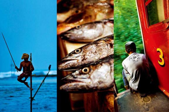 斯里兰卡海岸线上的蓝色海港城市:加勒