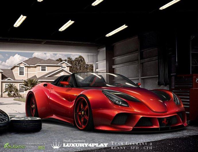 法拉利F12超酷虚拟改装高清图片