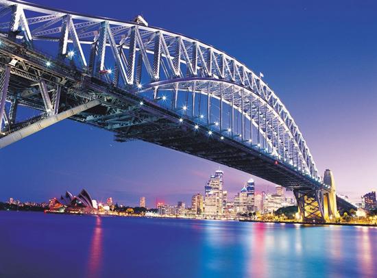沉醉于澳洲悉尼的魅力 坐着摩托逛大桥