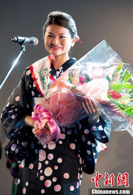 甜美动人!日本东京举行和服选美大赛
