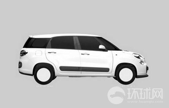 菲亚特500家族新丁 XL七座面包车专利图曝光高清图片
