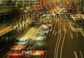城市摄影:抽象的叠印街道