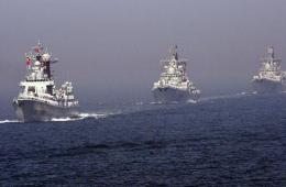 中俄联合演习举行海上阅兵