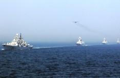 中俄大规模海上阅兵:19艘战舰出阵