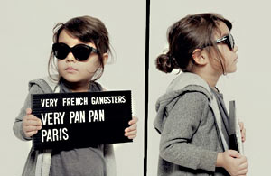 广告摄影:黑帮范的儿童照