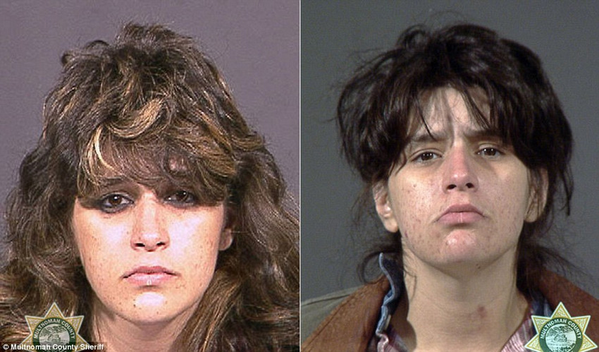 前后 对比/美司法部门公布吸毒者前后对比照(11/20)