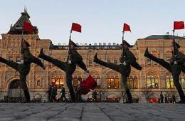 莫斯科红场举行阅兵彩排