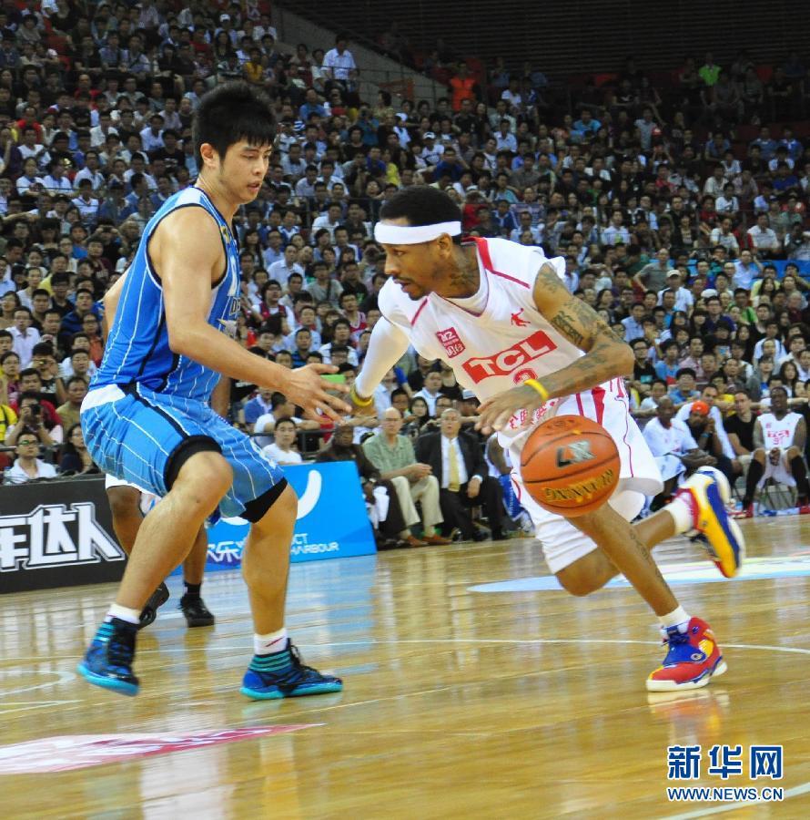 艾弗森对战马布里 美国篮球明星队中国行深圳站