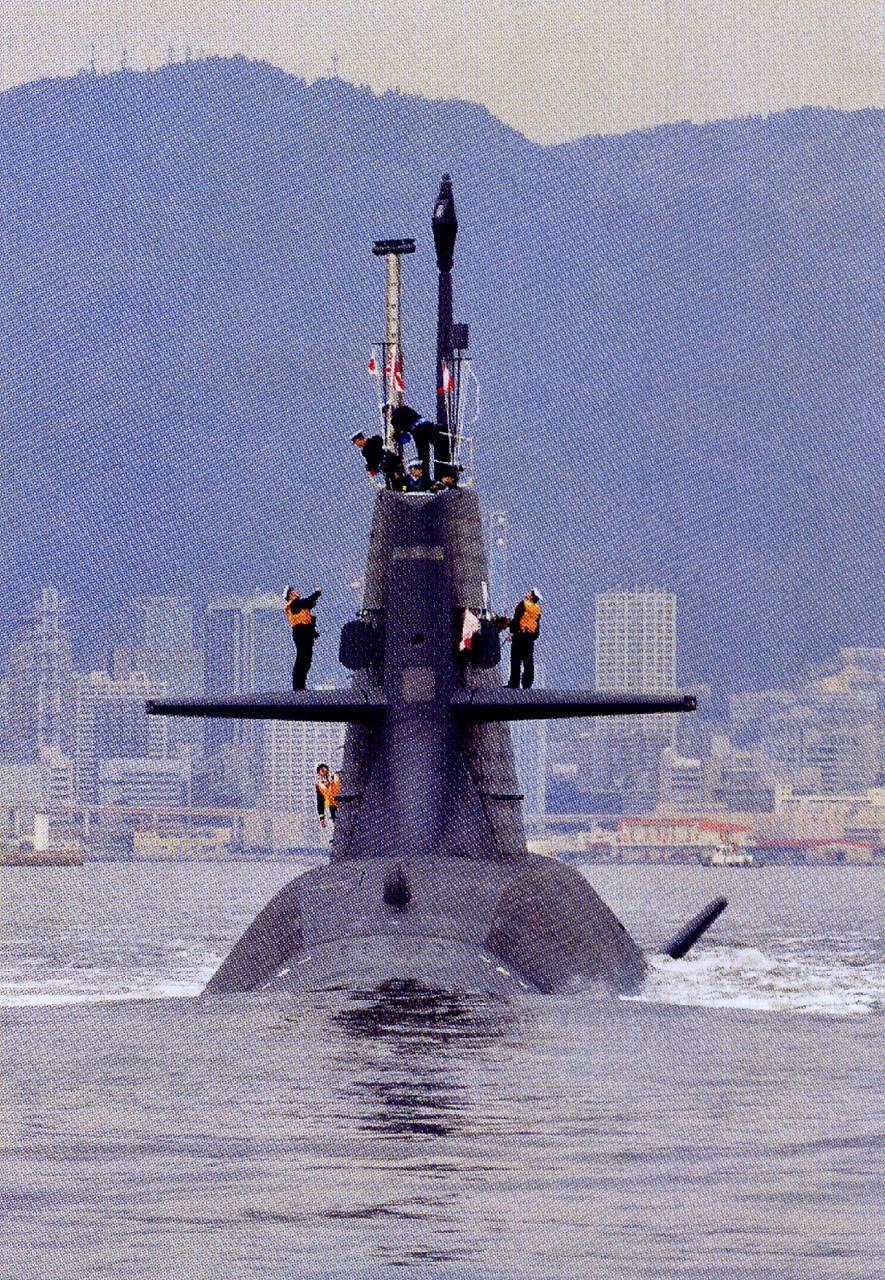 中国第一艘潜艇_日本又1艘AIP潜艇服役_军事_环球网