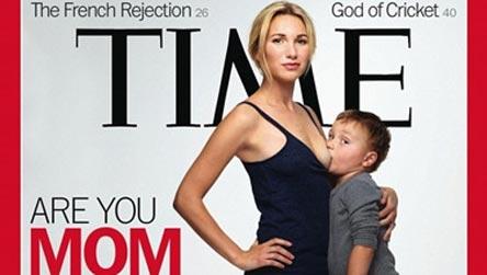 3岁男童吃母乳照登《时代》封面(图)