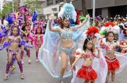 日神户祭举行桑巴狂欢