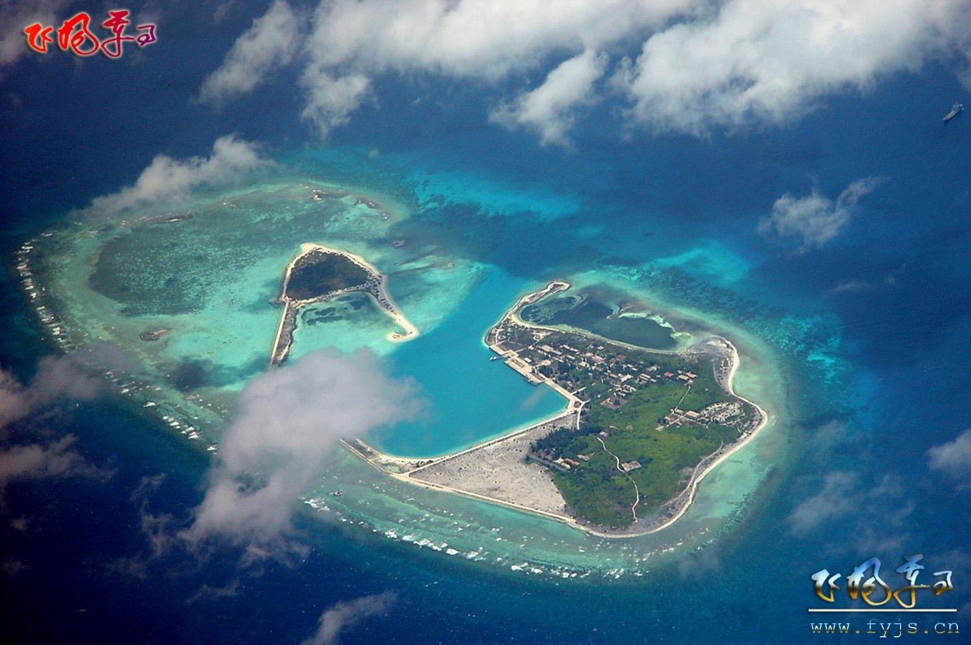 中国南海岛礁影像图_黑马_新浪博客