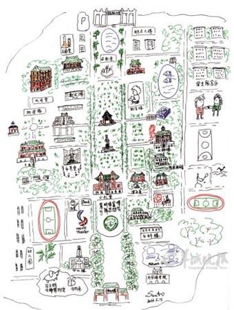 中山大学校园手绘地图萌翻网友