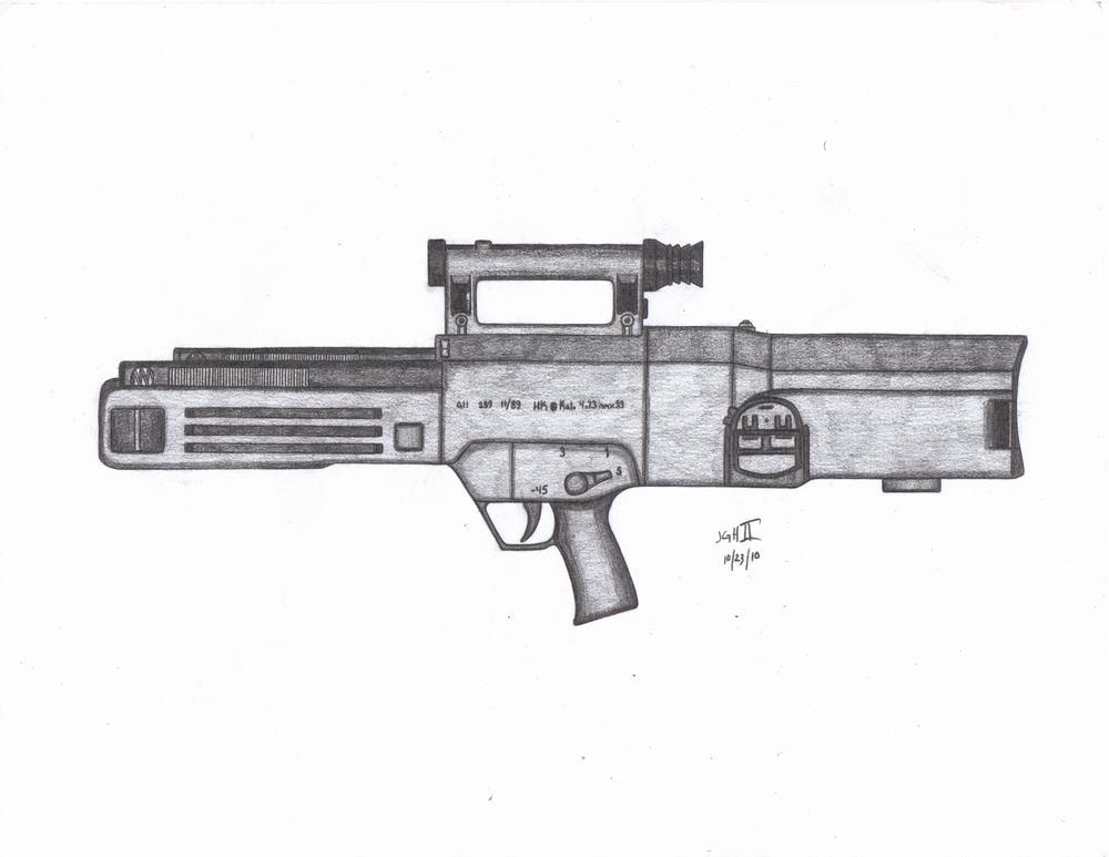 土枪支结构_使用无壳子弹的科幻枪