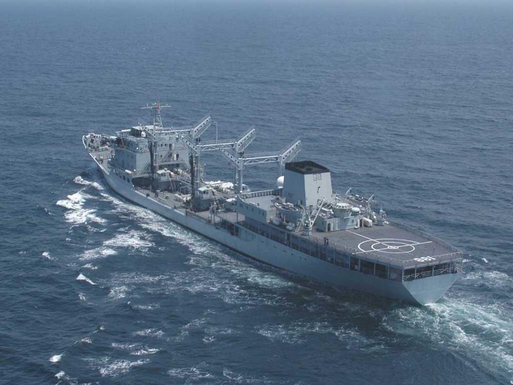 中国海军三艘舰艇编队再次穿越日本岛链前出西太演习