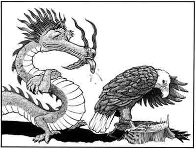 中美:鹰终将意识到被骗决心与敌死战