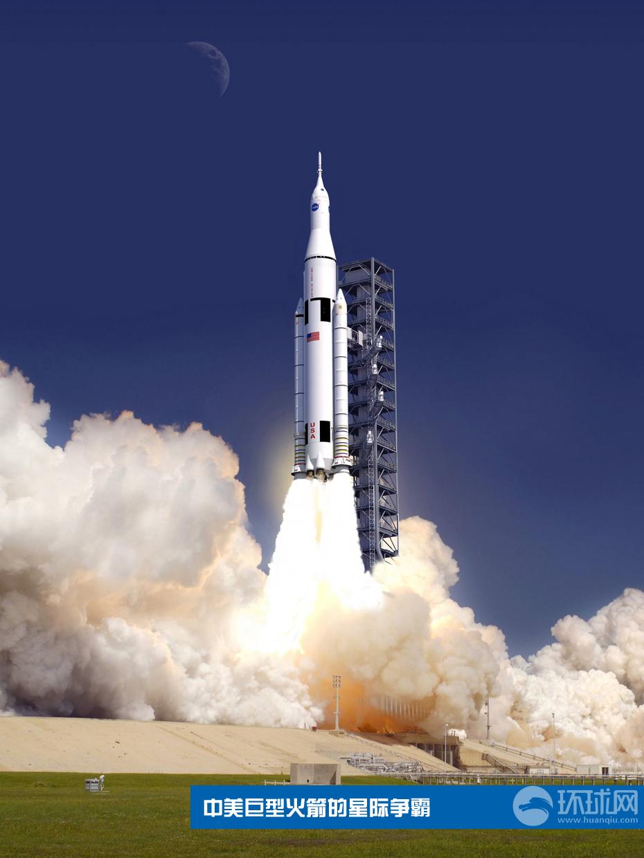 中国 火箭/美国的SLS巨型火箭美国的SLS巨型火箭