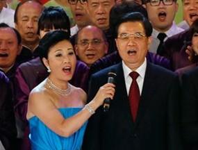 香港回归文艺晚会:胡锦涛唱《歌唱祖国》
