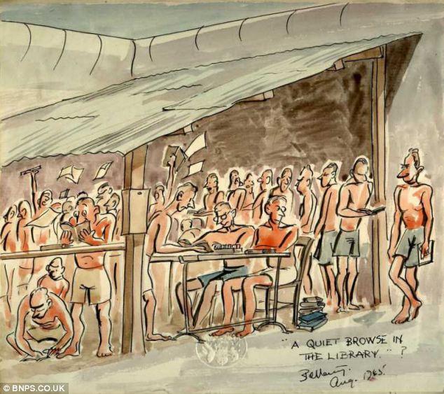 日本 漫画 贝塔尼/英二战士兵漫画记录日本监狱生活(1/26)...