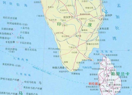 资料图:斯里兰卡位于印度半岛的南端; 资料图:中国援建斯里兰卡的汉班