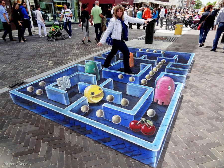 摄人心魄的街头3D艺术画作