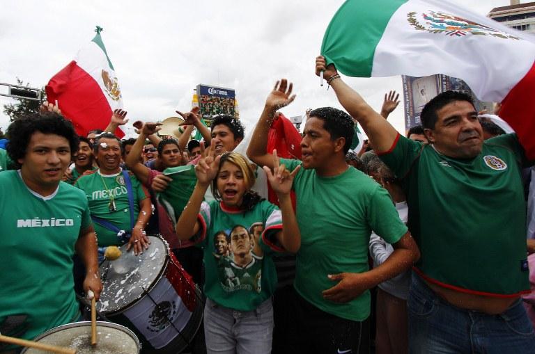 墨西哥庆祝足球夺冠