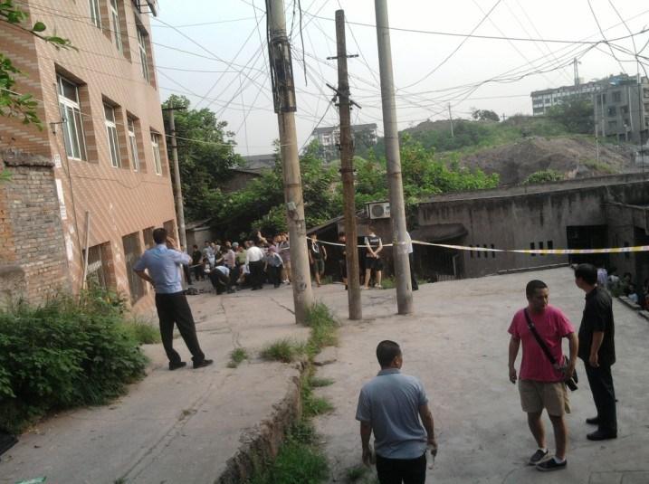 家桥一带被击毙.现场看到周克华尸体已被警方带走,童家桥区域仍图片