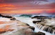 风光摄影:日落海洋