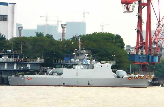 中国出口孟加拉最新大型巡逻舰下水猛图曝光