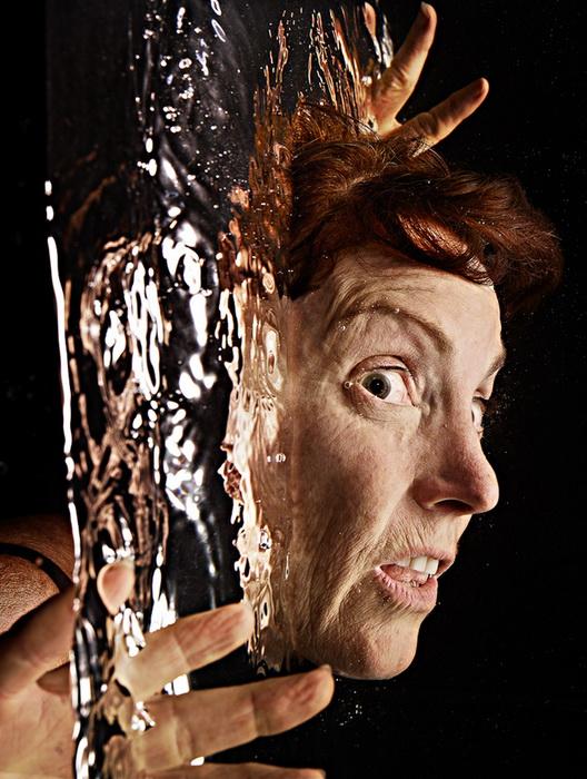 人像摄影:水中人头
