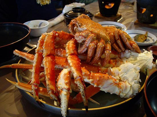 日本最著名的极品三大蟹 一只吃到饱_旅游_环球网