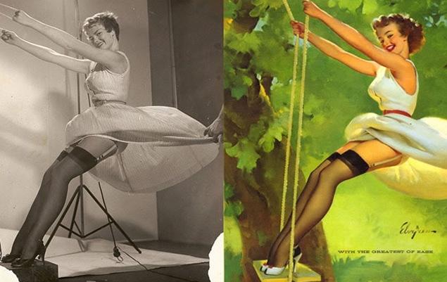 50年代女星经典海报特效前后对比照