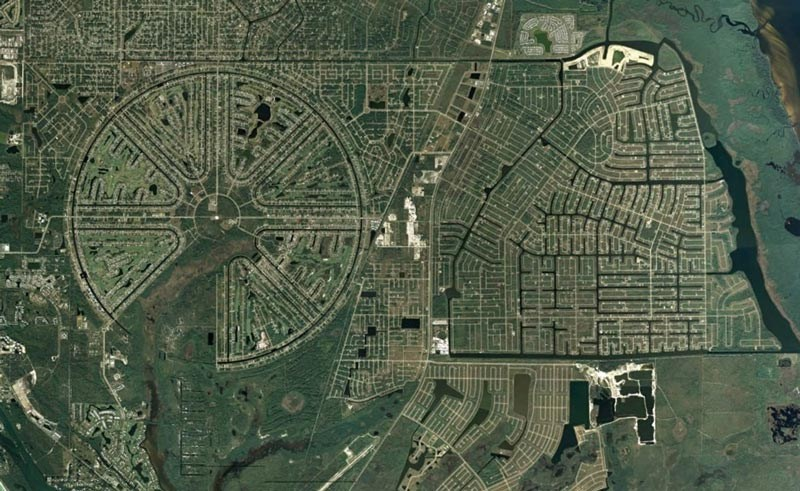 谷歌地图建筑群卫星图