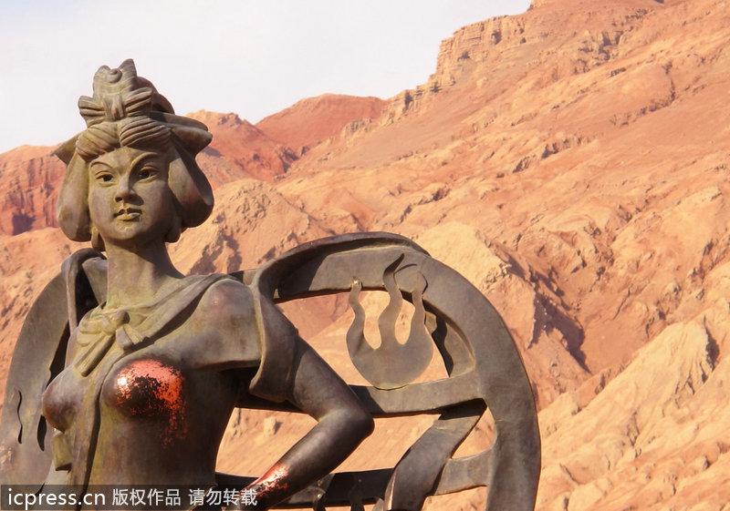 新疆铁扇公主被裸露