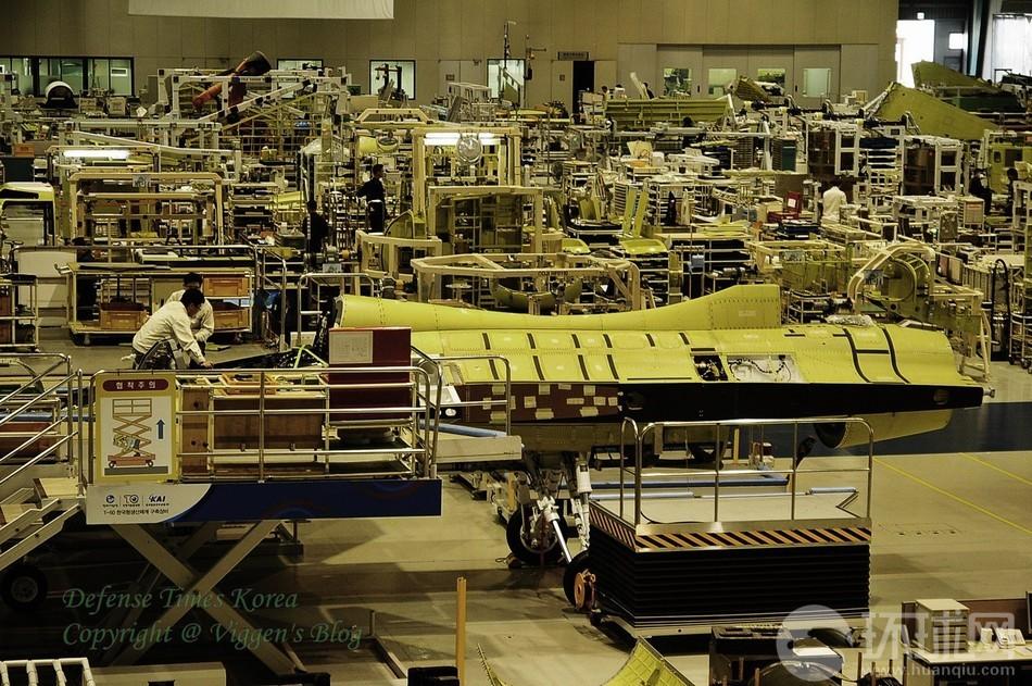 韩国为印尼制造t-50厂房内部