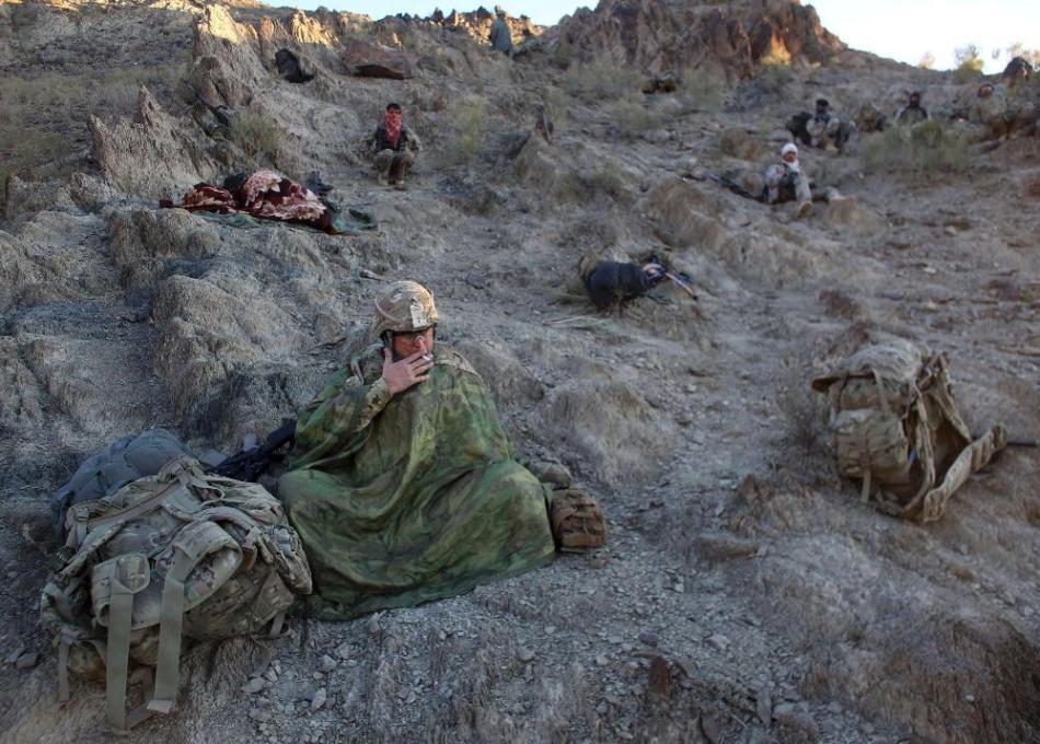驻阿美军的生活条件够艰苦的