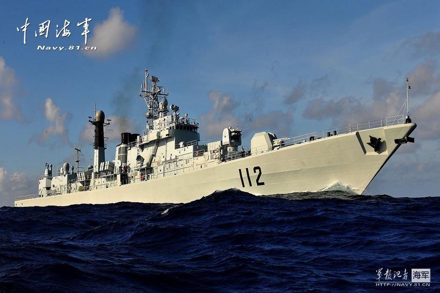 中华第一舰西太训练展英姿