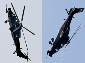 直-10在航展上展现惊人机动性能