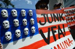 菲民众举行反美示威