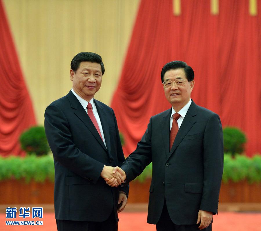 2012年11月16日的胡習兩代核心的握手照