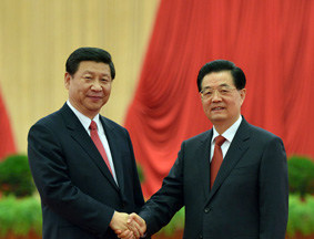 胡锦涛习近平会见十八大代表