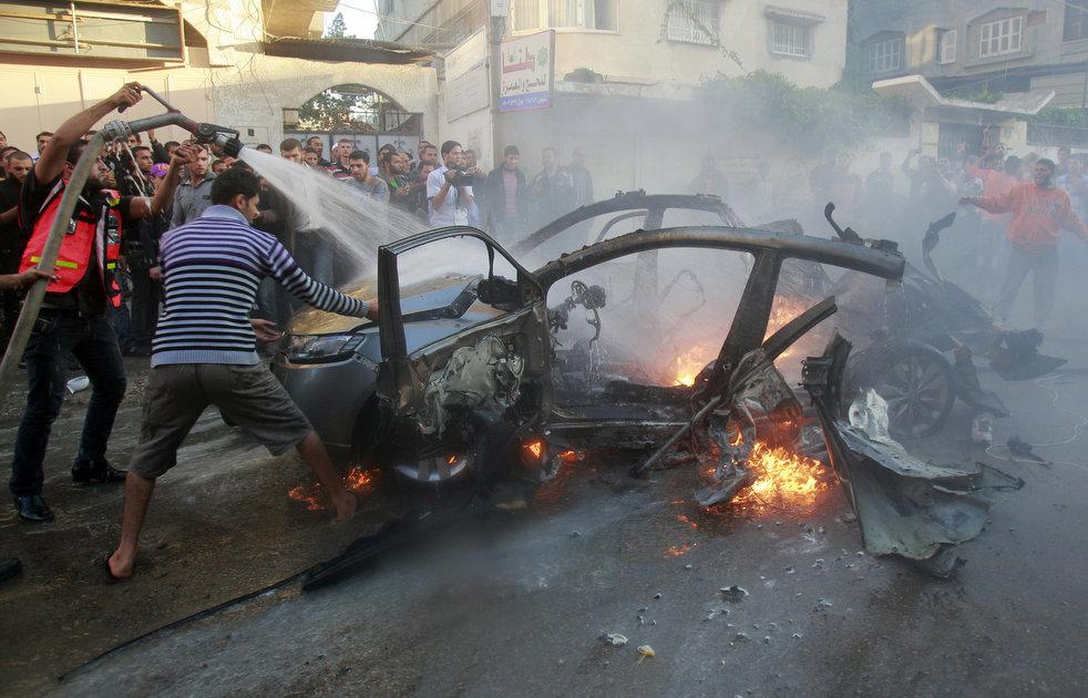 空袭 聊天/以色列继续空袭加沙地带(21/28)