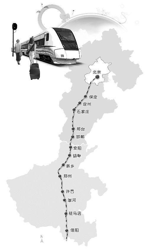 鹤壁去西安高铁线路图