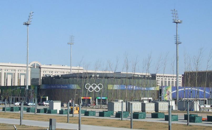 北京奥运场馆五棵松棒球场被拆除