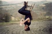人像摄影:倒立的自拍