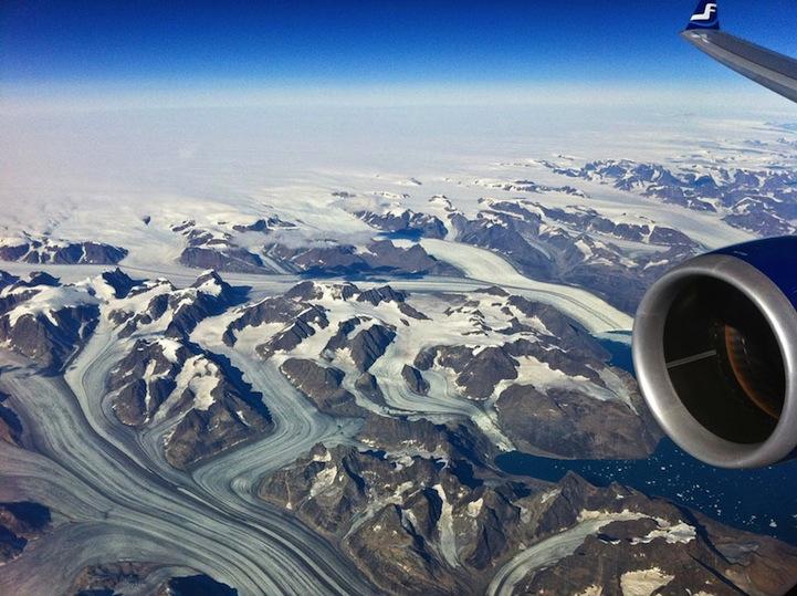 风光摄影:飞机舷窗的景象 摄影 环球网